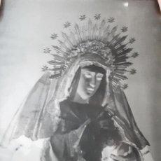 Fotografía antigua: ANTIGUO CLICHÉ DE NUESTRA DE LOS DOLORES DOS HERMANAS SEVILLA NEGATIVO EN CRISTAL. Lote 134711498