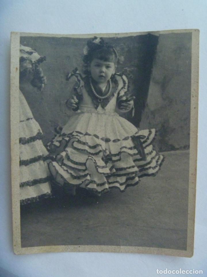 MINUTERO DE FOTOGRAFO DE FERIA : NIÑA VESTIDA DE FLAMENCA (Fotografía Antigua - Fotomecánica)