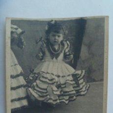 Fotografía antigua: MINUTERO DE FOTOGRAFO DE FERIA : NIÑA VESTIDA DE FLAMENCA. Lote 134809926