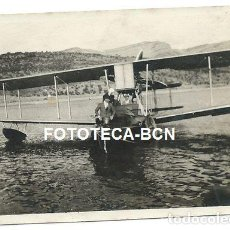Fotografía antigua: FOTO ORIGINAL HIDROAVION VICKERS MATRICULA G-EBED POSIBLEMENTE ESPAÑA AÑOS 20 AVIACION AVION. Lote 135053182