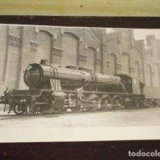 Fotografía antigua: FOTOGRAFIA LOCOMOTORA A VAPOR - AÑOS 50 -. Lote 135159998