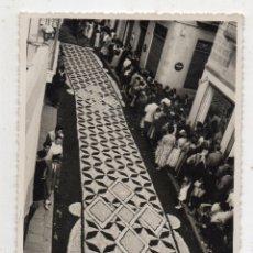 Fotografía antigua: FOTOGRAFÍA ANTIGUA DE ALFOMBRA DE FLORES.. Lote 135198354