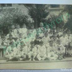 Fotografía antigua: FOTOGRAFÍA. RECUERDO PRIMERA COMUNIÓN. COLEGIO SEÑORA DEL PILAR. MADRID 1923 (22,5 X 17 CM). Lote 135223738