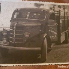 Fotografía antigua: ANTIGUA FOTOGRAFÍA CAMIÓN ORTUÑO LETUR ALBACETE. Lote 135244070