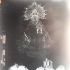 Fotografía antigua: ANTIGUO CLICHE DE NUESTRA SEÑORA DE LA FUENSANTA VILLANUEVA DEL ARZOBISPO JAEN NEGATIVO EN CRISTAL. Lote 135276346
