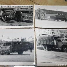 Fotografía antigua: ANTIGUAS FOTOGRAFÍAS ACCIDENTE CAMIONES MADERAS VALIENTE HUEVOS DOLZ BATALLER VALENCIA. Lote 135370934