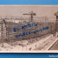 Fotografía antigua: VALENCIA - VISTA DEL PUERTO - AÑOS 1940-1950. Lote 135433662