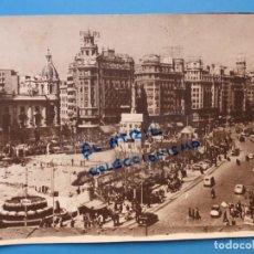 Fotografía antigua: VALENCIA - PLAZA DEL CAUDILLO - AÑOS 1940-1950. Lote 135433846