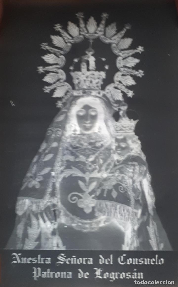 ANTIGUO CLICHE DE NUESTRA SEÑORA DEL CONSUELO LOGROSAN CACERES NEGATIVO EN CRISTAL (Fotografía Antigua - Fotomecánica)