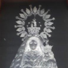 Fotografía antigua: ANTIGUO CLICHE DE NUESTRA SEÑORA DEL CONSUELO LOGROSAN CACERES NEGATIVO EN CRISTAL. Lote 135535838
