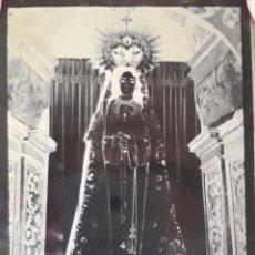 Fotografía antigua: ANTIGUO CLICHE DE MARÍA SANTÍSIMA DEL CARBAYU LANGREO ASTURIAS NEGATIVO EN CRISTAL. Lote 135537638