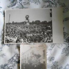 Fotografía antigua: LOTE FOTOGRAFIAS ANTIGUAS NUESTRA SEÑORA DE BOTOA EN PROCESION - BADAJOZ - RARAS. Lote 135771518