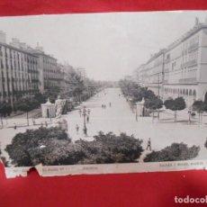 Fotografía antigua: ZARAGOZA PASEO DE LA INDEPENDENCIA FUENTE DE NEPTUNO. FOTOGRÁFIA CARTON - HAUSER Y MENET-. Lote 136307718