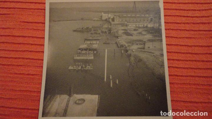 ANTIGUA FOTOGRAFIA.MUELLE.LA CARRACA.SAN FERNANDO.CADIZ 1943 (Fotografía Antigua - Fotomecánica)