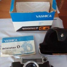 Fotografía antigua: CÁMARA DE FOTOS YASHICA MINISTERIO D 35MM. Lote 137185662