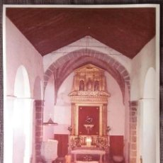 Fotografía antigua: FOTOGRAFÍA INTERIOR IGLESIA PARROQUIAL DE COLMENAREJO. MADRID. AÑOS 70. Lote 137211470