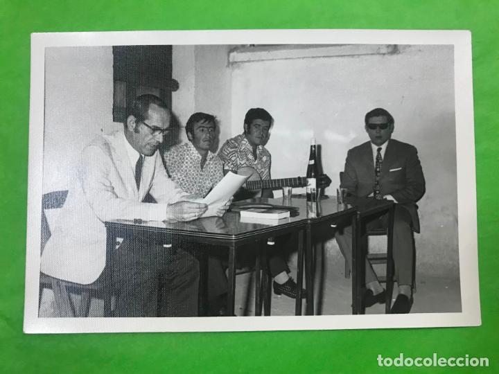 FOTO CANTAORES FLAMENCO, L. MELGAR, EL CHAPARRO, JUAN MUÑOZ (EL TOMATE), CIEGO DE ALMODOVAR, 1971 (Fotografía Antigua - Fotomecánica)