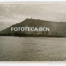 Fotografía antigua: FOTO ORIGINAL PUERTO DE BARCELONA BUQUE CAMPERO PETROLERO COMPAÑIA CAMPSA AÑO 1946. Lote 137716210