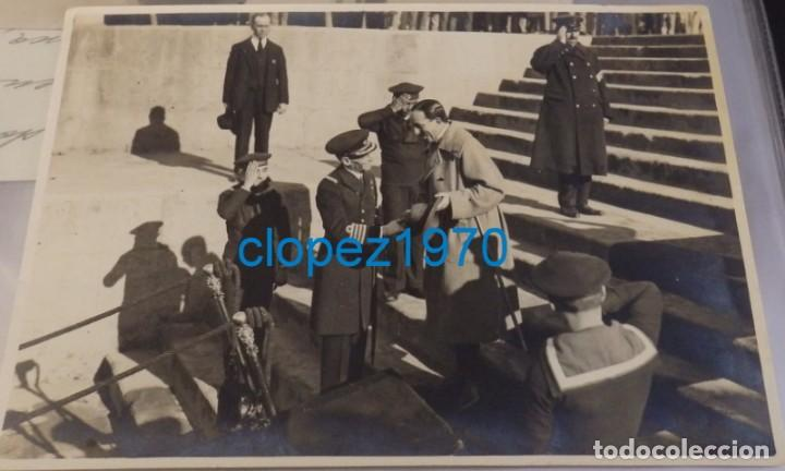 SEVILLA, EL REY ALFONSO XIII EN EL EMBARCADERO DE SAN TELMO, FOT.SANCHEZ DEL PANDO,175X120MM (Fotografía Antigua - Fotomecánica)