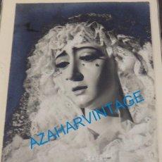 Fotografia antiga: SEMANA SANTA DE SEVILLA VIRGEN DE LA SALUD SAN GONZALO, 75X105MM. Lote 138765306