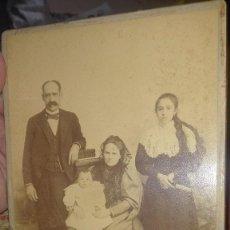 Fotografía antigua: FOTOGRAFÍA FAMILIAR.SIGLO XIX. GRANADA. Lote 139015646