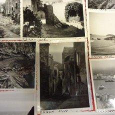 Fotografía antigua: TOSSA DE MAR. LOTE DE FOTOGRAFÍAS 8,5 X 6,5 CTMS. ORIGINALES ABRIL 1936. Lote 139318998