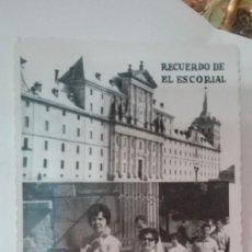 Fotografía antigua: FOTOGRAFIA RECUERDO EL ESCORIAL. Lote 139501846