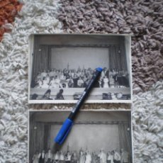 Fotografía antigua: 2 FOTOGRAFIAS ACTORES OBRA TEATRO EN VALENCIA. AÑOS 50. Lote 139790430