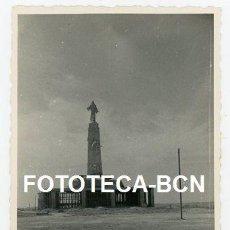 Fotografía antigua: FOTO ORIGINAL CERRO DE LOS ANGELES EN CONSTRUCCION GETAFE COMUNIDAD MADRID AÑO 1956. Lote 140419170
