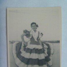 Fotografía antigua - FOTO DE MUCHACHA VESTIDA DE FLAMENCA , 1958 - 140443278