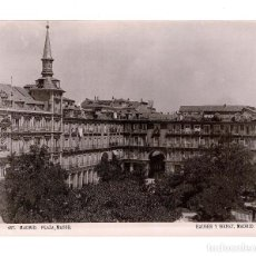 Fotografía antigua: FOTOGRAFIA HAUSER Y MENET. 100. COMISARIA REGIA DEL TURISMO.- PLAZA MAYOR DE MADRID.- 20 X 16 CM. Lote 140474338