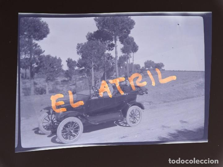 MORELLA, CASTELLON - VISTA COCHE - CLICHE NEGATIVO EN CELULOIDE - AÑOS 1940-50 (Fotografía Antigua - Fotomecánica)
