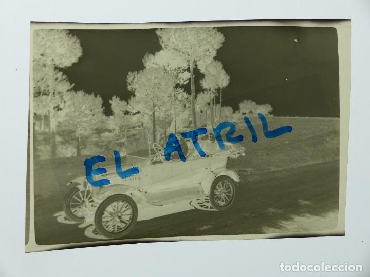 Fotografía antigua: MORELLA, CASTELLON - VISTA COCHE - CLICHE NEGATIVO EN CELULOIDE - AÑOS 1940-50 - Foto 2 - 141305466