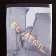 Fotografía antigua: MORELLA, CASTELLON - VISTA - CLICHE NEGATIVO EN CELULOIDE - AÑOS 1940-50. Lote 141311510