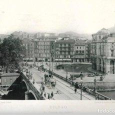 Fotografía antigua: FOTOGRAFÍA AÑO 1892 FOTOTIPIA ORIGINAL PUENTE ARENAL, BILBAO, VIZCAYA HAUSER Y MENET. Lote 141491918