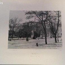 Fotografía antigua: FOTOTIPIA MADRID Nº 111 AÑO 1894 PLAZA DE ORIENTE HAUSER Y MENET EXCELENTE CONSERVACION PALACIO REAL. Lote 141653946