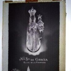 Fotografía antigua - OLIVA DE LA FRONTERA BADAJOZ ANTIGUO CLICHÉ DE NUESTRA SEÑORA DE GRACIA NEGATIVO EN CRISTAL - 142088614