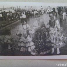 Fotografía antigua: MINUTERO DE FOTOGRAFO DE FERIA : NIÑAS VESTIDAS DE FLAMENCA. Lote 142272402