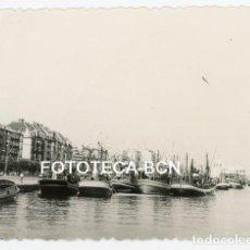 Fotografía antigua - FOTO ORIGINAL SANTANDER PUERTO BARCAS DE PESCADORES EDIFICIOS AÑOS 60 - 142651090