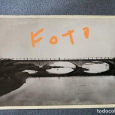 Fotografía antigua: ANTIGUA FOTOGRAFÍA. PUENTE FERROVIARIO (FERROCARRIL)DE PALANQUINOS. PROVINCIA DE LEÓN. FOTO AÑOS 50.. Lote 142671146