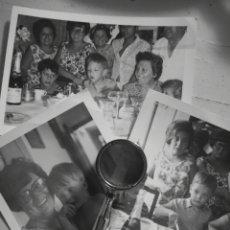 Fotografía antigua: LOTE DE 3 FOTOGRAFIAS, CUMPLEAÑOS DE NIÑO EN ALICANTE, 1970. Lote 142802533