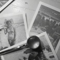 Fotografía antigua: LOTE DE 3 FOTOGRAFIAS, DIAS DE PLAYA EN ALICANTE, 1970. Lote 142803761