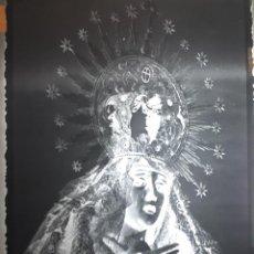 Fotografía antigua: ANTIGUO CLICHÉ DE LA VIRGEN DE LA AMARGURA LA BAÑEZA LEON NEGATIVO EN CRISTAL. Lote 142814682