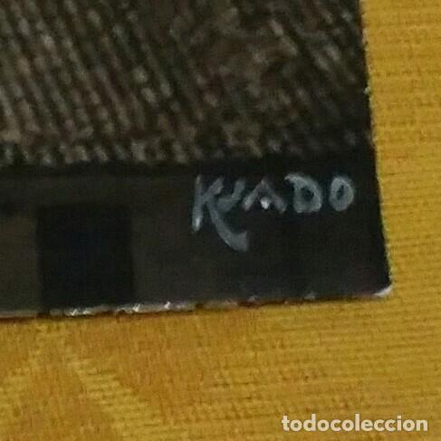 Fotografía antigua: Fotografía firmada a mano por - Vista catedral de Santiago - Ksado. Buen tamaño 38'5 x 29 cm. - Foto 3 - 142823078