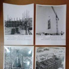 Fotografía antigua: 4 FOTOS OBRA DEPOSITOS DE VINO EN LEON EMPRESA CONSTRUCTOTA PINERO BUCETA SA AÑOS 60/70. Lote 143146426