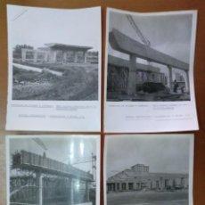 Fotografía antigua: 4 FOTOS OBRAS AUTOPISTA BARCELONA MONTGAT EMPRESA CONSTRUCTORA ENTRECANALES Y TAVORA SA AÑOS 60/70. Lote 143147758