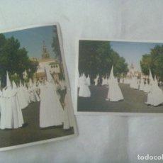 Fotografía antigua: SEMANA SANTA DE SEVILLA : LOTE DE 2 FOTOS DE NAZARENOS. Lote 143407034