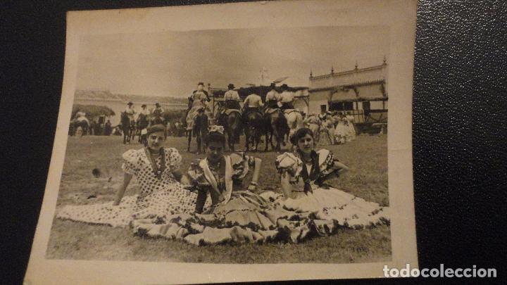 ANTIGUA FOTOGRAFA.ROMERIA VIRGEN DEL ROCIO.ALMONTE.AÑOS 50 (Fotografía Antigua - Fotomecánica)
