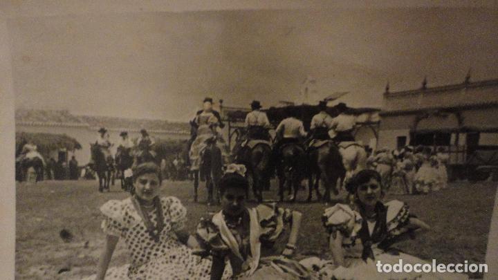 Fotografía antigua: ANTIGUA FOTOGRAFA.ROMERIA VIRGEN DEL ROCIO.ALMONTE.AÑOS 50 - Foto 2 - 143859202