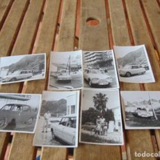 Fotografía antigua: LOTE DE 8 FOTOS DE COCHES CLASICOS. Lote 144238946